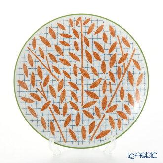 Hermes (HERMES) walk in the garden dessert plate 21cm orange plate tableware fashion brand