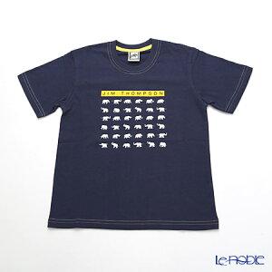 ジムトンプソン 子供服 Tシャツ S(4-7歳) ホワイトゾウ36/ダークブルー ジム・トンプソン ギフト