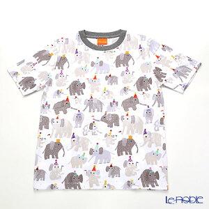 ジムトンプソン 子供服 Tシャツ M(8-11歳) ミニゾウパーティー/ホワイト ジム・トンプソン ギフト