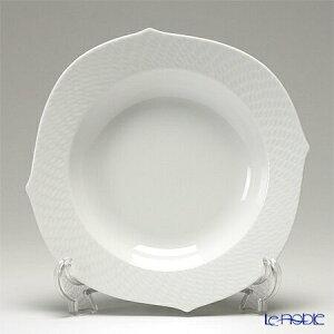 マイセン (Meissen) 波の戯れホワイト 000001/29488 スーププレート 23cm 白 深皿 カレー パスタ お皿 食器 ブランド 結婚祝い 内祝い