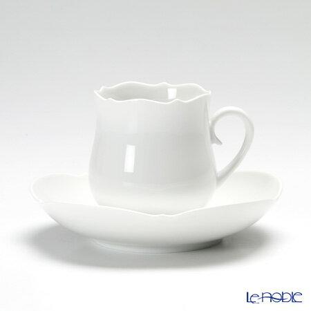 マイセン (Meissen) マイセンホワイト 000001/23582 コーヒーカップ&ソーサー 150cc【楽ギフ_包装選択】【楽ギフ_のし宛書】 ティーカップ 食器