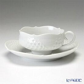 【ポイント19倍】マイセン (Meissen) ホワイトレリーフ 000001/26633 ティーカップ&ソーサー 150cc 白 おしゃれ かわいい 食器 ブランド 結婚祝い 内祝い