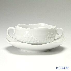 【ポイント19倍】マイセン (Meissen) ホワイトレリーフ 000001/26655 スープカップ&ソーサー 250cc 白 食器 ブランド 結婚祝い 内祝い