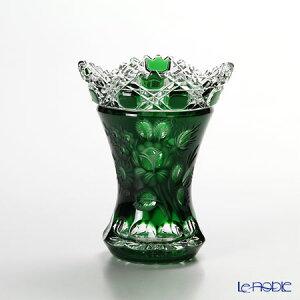 【ポイント10倍】マイセン(Meissen) マイセンクリスタル 花瓶(グリーン) 13cm MFO/1320/13G フラワーベース おしゃれ ギフト