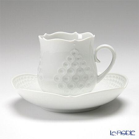 マイセン (Meissen) ホワイトレリーフ 000001/26582 コーヒーカップ&ソーサー 150cc【楽ギフ_包装選択】【楽ギフ_のし宛書】【楽ギフ_名入れ】 ティーカップ 食器