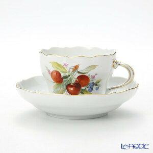 マイセン (Meissen) 果物文様 240210/00582 コーヒーカップ&ソーサー 200cc チェリー コーヒ?カップ おしゃれ かわいい 食器 ブランド 結婚祝い 内祝い