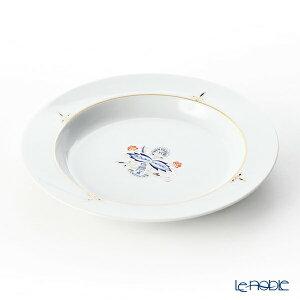 マイセン (Meissen) ノーブルブルー 802890-41487 スーププレート 23cm(ダブルリーフ) 深皿 カレー パスタ お皿 食器 ブランド 結婚祝い 内祝い