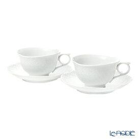 【ポイント19倍】マイセン (Meissen) 波の戯れホワイト 000001/29633 ティーカップ&ソーサー 170cc ペア 白 おしゃれ かわいい 食器 ブランド 結婚祝い 内祝い