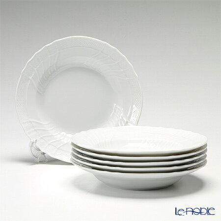 リチャードジノリ (Richard Ginori) ベッキオホワイト スーププレート 24cm 6枚セット【楽ギフ_包装選択】【楽ギフ_のし宛書】 リチャード・ジノリ 皿 食器