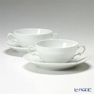 Richardsinori (理查德 · 吉诺里陶器) Vecchio 白色杯子和碟子 300cc 双