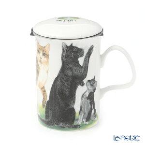 ロイカーカム キャットコレクション(黒猫) こし器付ビーカー 320cc マグカップ おしゃれ かわいい 食器 ブランド 結婚祝い 内祝い