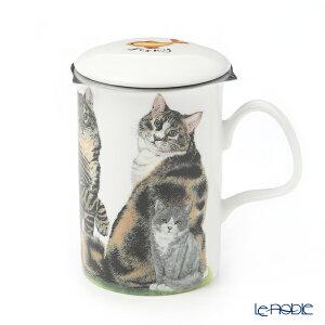 【ポイント10倍】ロイカーカム キャットコレクション(三毛猫) こし器付ビーカー 320cc マグカップ おしゃれ かわいい 食器 ブランド 結婚祝い 内祝い