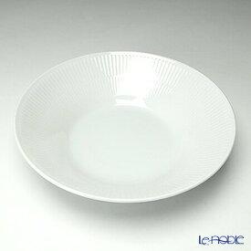 【ポイント10倍】ロイヤルコペンハーゲン (Royal Copenhagen) ホワイト フルーテッド プレイン パスタプレート 24cm 2408606/1016940 北欧 ホワイトフルーテッド 深皿 カレー お皿 食器 ブランド 結婚祝い 内祝い