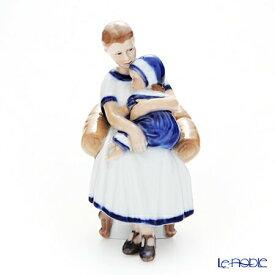 ロイヤルコペンハーゲン (Royal Copenhagen) フィギュリン エルスとママ(居眠り) 18cm 1021670 北欧 クリスマス 置物 オブジェ 人形 インテリア