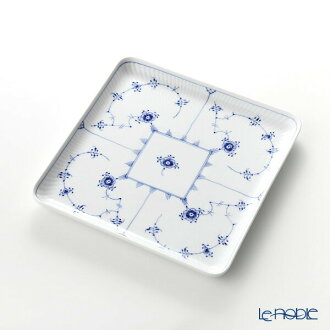 Royal Copenhagen (Royal Copenhagen) ブルーフルーテッドプレインスクエアディッシュ 20cm 1101720/1017204 North Europe ブルーフルーテッドプレート plate dish tableware brand wedding present family celebration