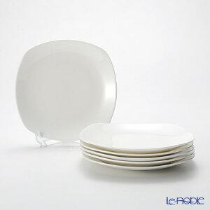 【ポイント10倍】プリモビアンコ 白の器 スクエア プレート 19cm 6枚セット 新生活応援 白い食器 食器セット お祝い 結婚祝い ブランド 内祝い