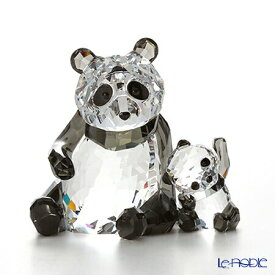 【ポイント10倍】スワロフスキー パンダの親子 SWV5-063-690 Swarovski 動物 置物 オブジェ フィギュリン インテリア