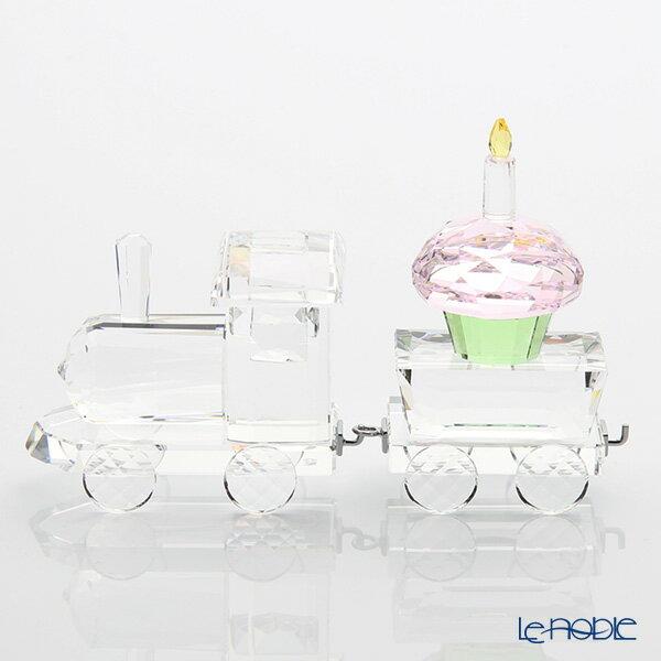 スワロフスキー 機関車&カップケーキのワゴン 1歳のお誕生日のお祝いセット【楽ギフ_包装選択】【楽ギフ_のし宛書】 置物 オブジェ インテリア