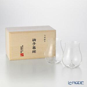 松徳硝子 うすはり 3021020 大吟醸 ペア 【木箱入】 ギフト 酒器 うすはりグラス カップ 食器 ブランド 結婚祝い 内祝い