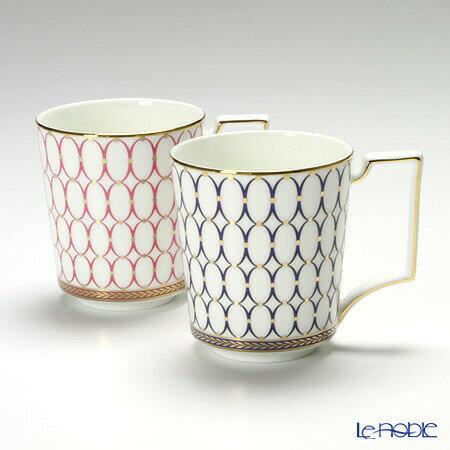 ウェッジウッド (Wedgwood) ルネッサンスゴールド マグ 300cc(ブルー&ピンク) 【ブランドボックス付】【楽ギフ_包装選択】【楽ギフ_のし宛書】 ウエッジウッド 母の日 結婚祝い お祝い ルネッサンスレッド マグカップ 食器 内祝い