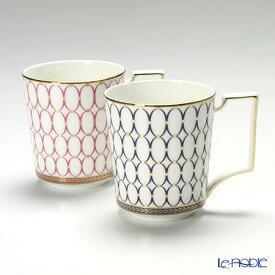 ウェッジウッド (Wedgwood) ルネッサンスゴールド マグ 300cc(ブルー&ピンク) 【ブランドボックス付】 /// ウェッジウッド マグカップ ペア おしゃれ ルネッサンスレッド 高級 ブランド 食器 ウエッジウッド // ギフト プレゼント 結婚祝い お祝い 内祝い