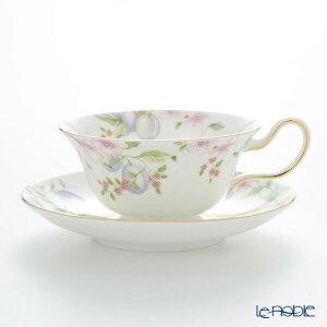 ウェッジウッド (Wedgwood) スウィートプラム ティーカップ&ソーサー(ピオニー) /// ウェッジウッド ティーカップ おしゃれ かわいい 花柄 すもも 桃 紅茶カップ ウエッジウッド 食器 高級 ブラ