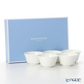 ウェッジウッド (Wedgwood) インタグリオ ジャパニーズティーカップ 150cc 5客セット 【ブランドボックス付】 ウエッジウッド 結婚祝い 内祝い お祝い 白 食器セット