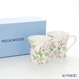 【ポイント10倍】ウェッジウッド (Wedgwood) スウィートプラム ダマスク マグ(デルフィ) 300cc ペア 【ブランドボックス付】 ウエッジウッド 結婚祝い 内祝い お祝い マグカップ おしゃれ かわいい 食器