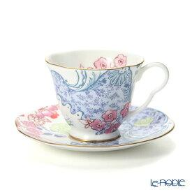 ウェッジウッド (Wedgwood) バタフライブルーム ティーカップ&ソーサー ブルー/ピンク ウエッジウッド 結婚祝い 内祝い お祝い おしゃれ かわいい 食器 ブランド