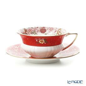 ウェッジウッド (Wedgwood) ワンダーラスト クリムゾンオリエント ティーカップ&ソーサー ウエッジウッド 結婚祝い 内祝い お祝い おしゃれ かわいい 食器 ブランド