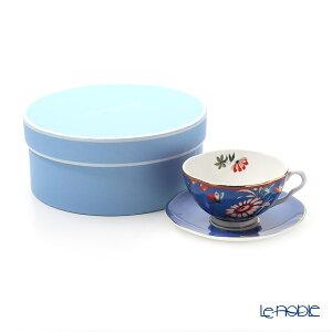 ウェッジウッド (Wedgwood) ペオニア ブラッシュ ティーカップ&ソーサー 250cc ブルー ウエッジウッド 結婚祝い 内祝い お祝い おしゃれ かわいい 食器 ブランド