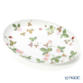 【ポイント10倍】ウェッジウッド (Wedgwood) ワイルドストロベリー カジュアル オーバルディッシュ 30cm ウエッジウッド 結婚祝い 内祝い お祝い プレート 皿 お皿 食器 ブランド