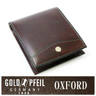 """牛津皮革德国对开钱包(有硬币袋)""""黄金文件""""日本制造牛皮书皮革钱包"""