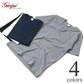 ジチピ Gicipi コットンフライス クルーネック 半袖Tシャツ メンズ 2001P