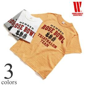【別注】ウエアハウス WAREHOUSE 半袖Tシャツ 4601[ROSE BOWL]