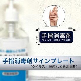 【送料無料】手指消毒剤 サインプレート ネイビー 消毒 除菌 ウイルス消毒