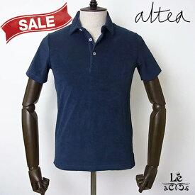 Altea アルテア パイル ポロシャツ 半袖 ネイビー 紺 無地 メンズ タオル地 イタリア製 春夏モデル 国内正規品 16500