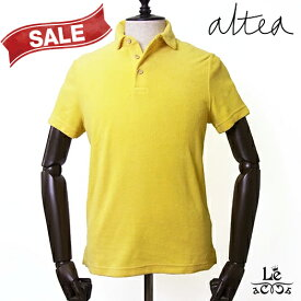 Altea アルテア パイル ポロシャツ 半袖 イエロー 黄色 無地 メンズ タオル地 コットン イタリア製 春夏モデル 国内正規品 17600【送料無料】