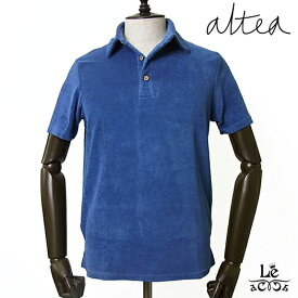 【New Arrival】Altea アルテア メンズ パイル ポロシャツ 半袖 ブルー 無地 春夏モデル 国内正規品 16500【送料無料】