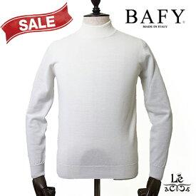 【30%OFF】BAFY バフィー モックネックニット プルオーバー ホワイト ウール イタリア製 秋冬モデル 国内正規品 18700【ギフト対応】
