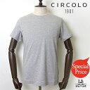 【Specialprice】CIRCOLO1901/チルコロ1901/ショートスリーブクルーネックTシャツ/胸ポケット付/グレー/コットン/イタリア製/春夏モデル/14040