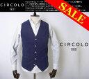 【New Arrival】circolo/チルコロ/ジャガードジレ/コットン/紳士服/イタリア製/春夏モデル/31320【送料無料】