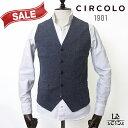 【60%OFF】CIRCOLO 1901 チルコロ ジャージージレ 9CU202204 ベスト 無地 コットン シングル グレー メンズ 秋冬モデル 国内正規品 31900