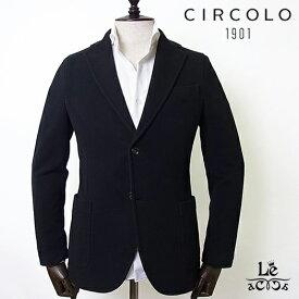 【SALE】CIRCOLO 1901 チルコロ シングルジャケット CN2330 カシミヤタッチ ジャージー 無地 ブラック 黒 メンズ 秋冬モデル 国内正規品 57200【送料無料】