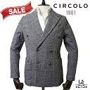 【New Arrival】CIRCOLO 1901 チルコロ ダブルブレストジャケット CN2397 グレンチェック ダークブラウン 秋冬モデル 国内正規品 74800【送料無料】
