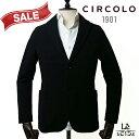 【30%OFF】CIRCOLO 1901 チルコロ メンズ ジャケット コットン ジャージー CN2520 シングル 無地 ブラック 黒 メンズ…
