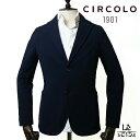【30%OFF】チルコロ 1901 CIRCOLO 1901 コットン ジャージー ジャケット CN2520 シングル 無地 ネイビー 紺 メンズ …