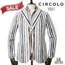 【30%OFF】CIRCOLO1901 チルコロ ストライプ ジャケット CN2639 シングル メンズ 春夏モデル 国内正規品 69300【送料…