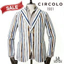 【30%OFF】CIRCOLO1901 チルコロ ストライプ ジャケット CN2639 シングル メンズ 春夏モデル 国内正規品 69300【送料無料】