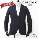 【30%OFF】CIRCOLO 1901 チルコロ ジャケット コットン ジャージー シングル 無地 ブラック 黒 メンズ 春夏モデル 国…